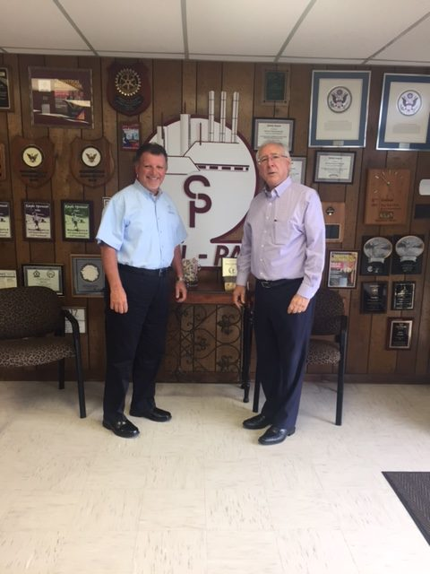 Steve and Bill at Seal Pac's offices